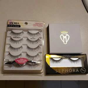 3 new sets of false eyelashes - Battington, Andrea